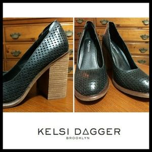 🆕NWOT Perforated Leather KDB Block Heels